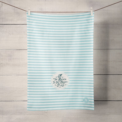 The Sea Shed - The beach is my happy place - Tea Towel