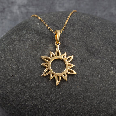 The Sea Shed Sterling Silver with Gold Vermeil Sun Ray Pendant