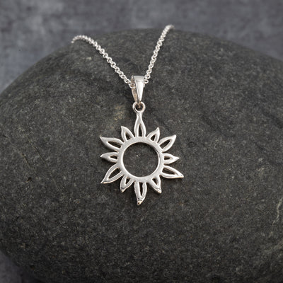 The Sea Shed Sterling Silver Sun Ray Pendant