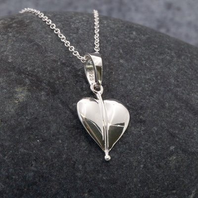 Vintage heart Sterling Silver pendant necklace by  The Sea Shed Cornwall