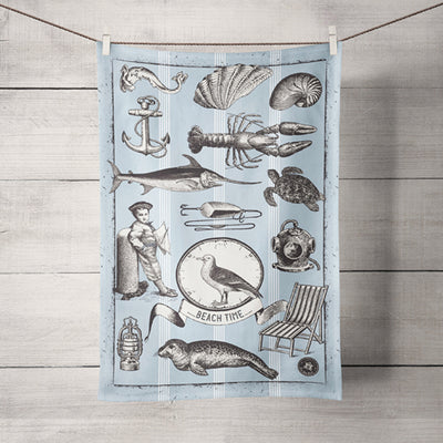 The Sea Shed - Vintage Seagull - Tea Towel