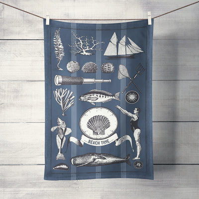 The Sea Shed - Vintage Shell - Tea Towel