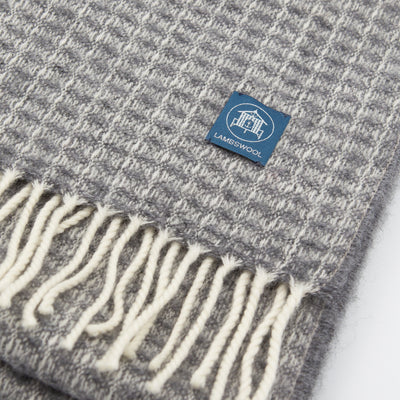 The Sea Shed Lambswool Scarf - Grey Check