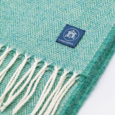 Lambswool Scarf Sea Green