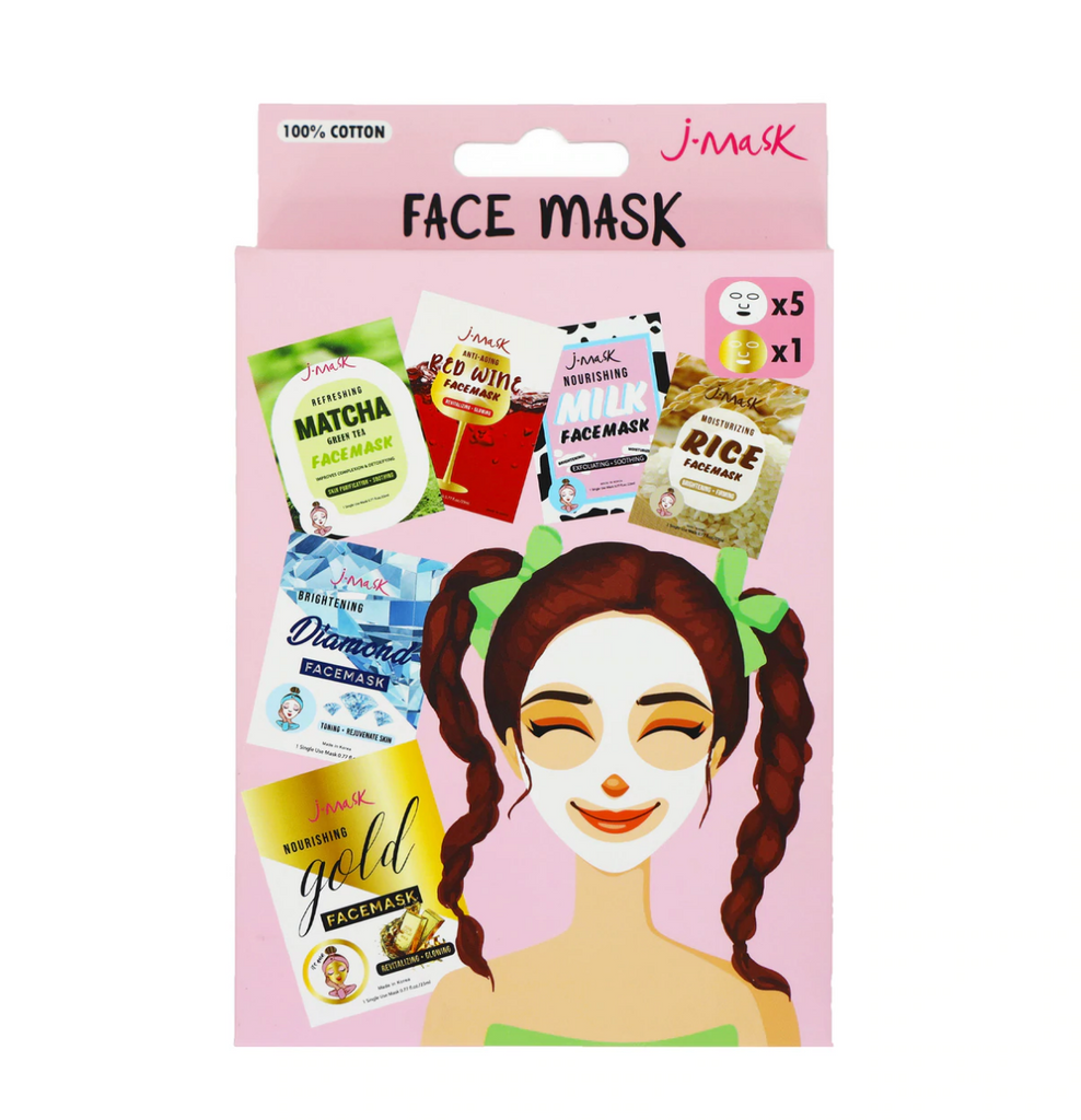 Pack de 6 Mascarillas Faciales Plus- J LASH