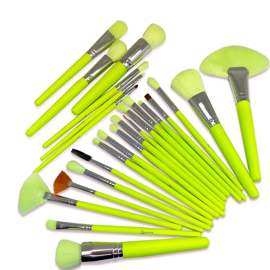 Bonbom Neon Amarillo 24PC Brush Set