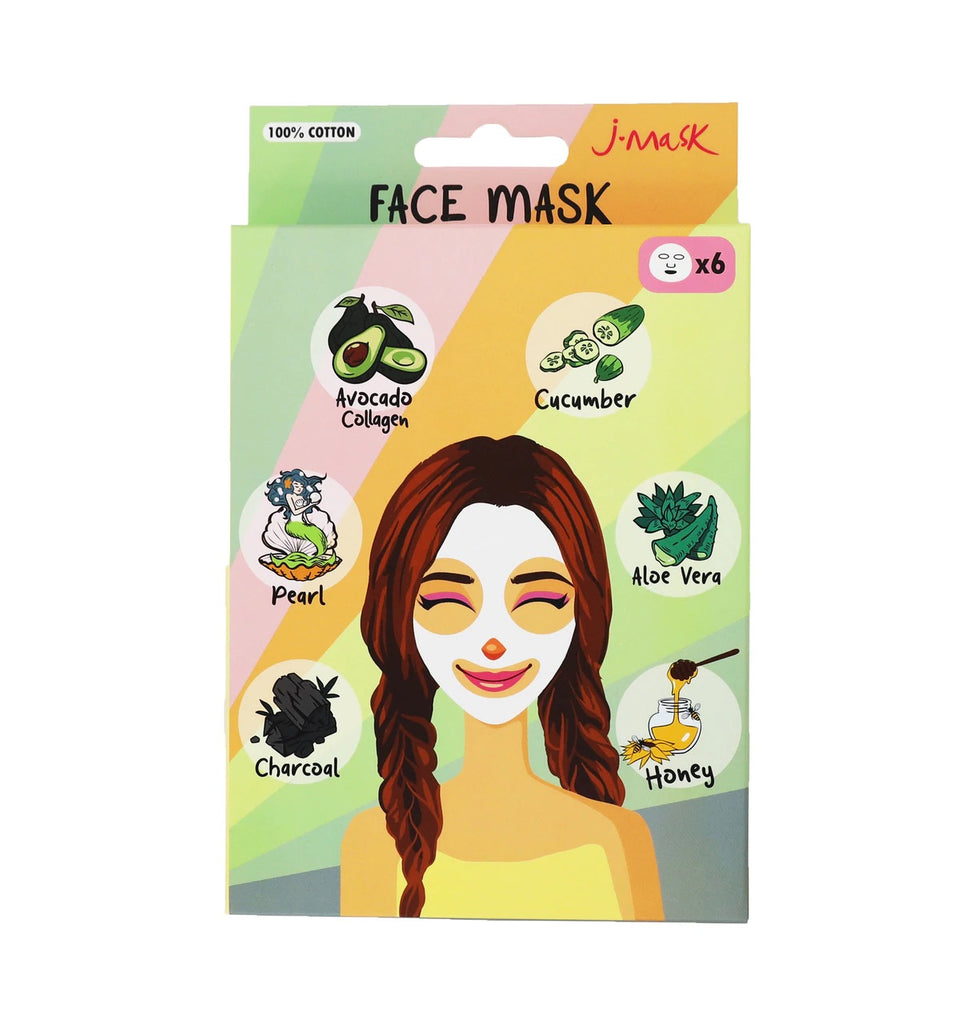 Pack de 6 Mascarillas Faciales - J LASH