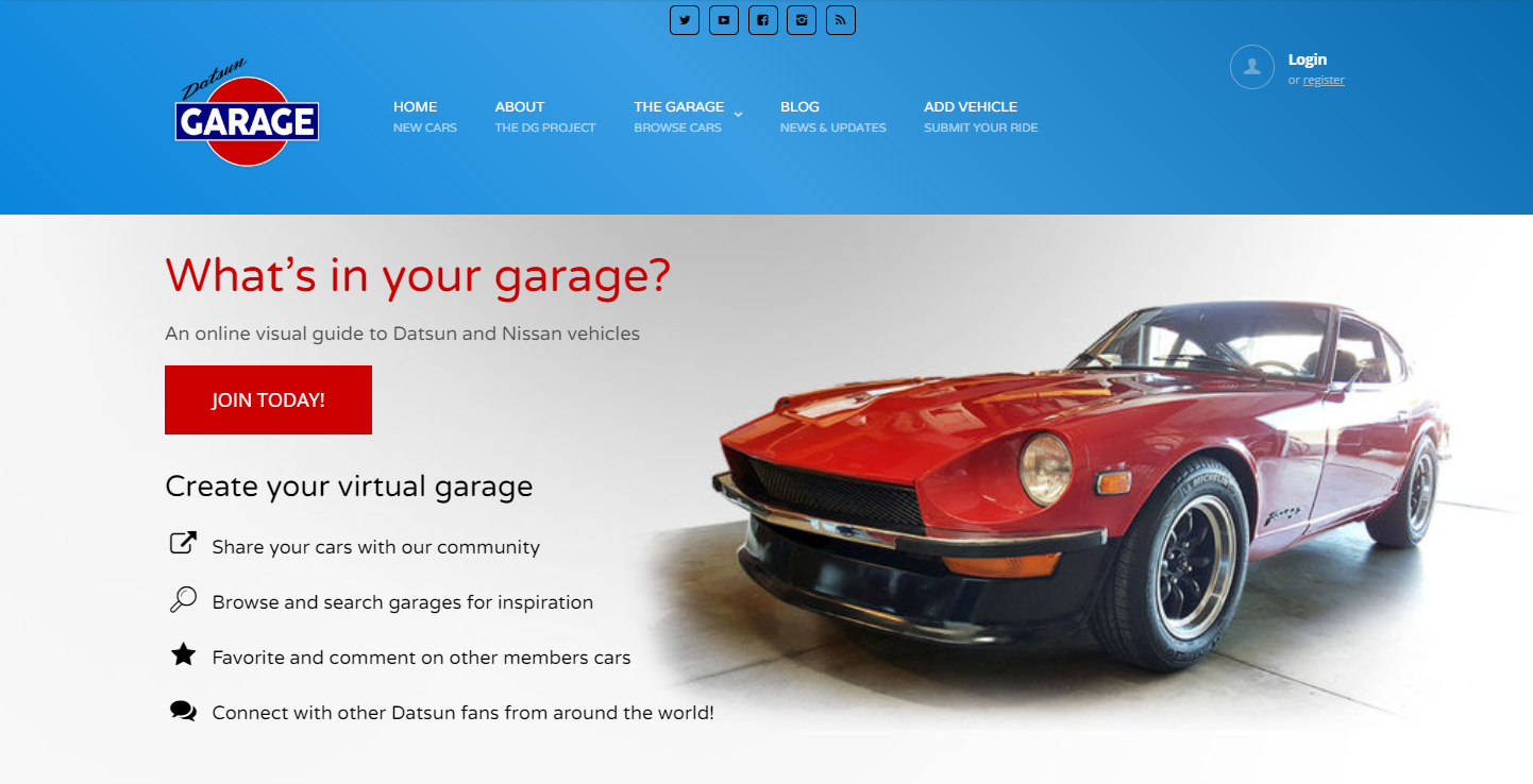 Datsun Garage version 1.0