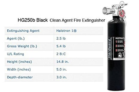 H3R Performance HalGuard Fire Extinguisher HG250B