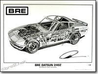 "BRE 240Z Cut-Away Poster 18"" X 24"""