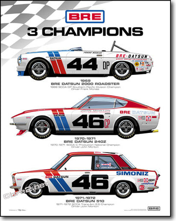 "3 BRE CHAMPIONS Poster 22"" X 28"""