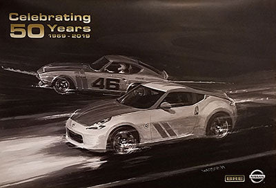 "BRE Limited Edition Nissan and BRE 50th Anniversary Z Poster 20"" X 30"""