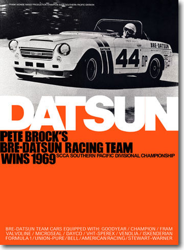"BRE 1969 Roadster Champion Poster 24"" X 33"""