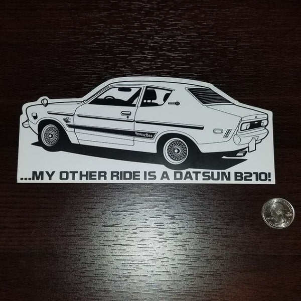 My other ride is a Datsun B210 Coupe