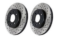 Front StopTech Cross Drilled/Slotted Brake Rotors 1974-1978 (260Z / 280Z) (Pair)