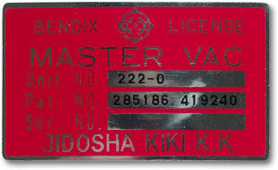 Master Vac Decal 1970-72 (240Z)