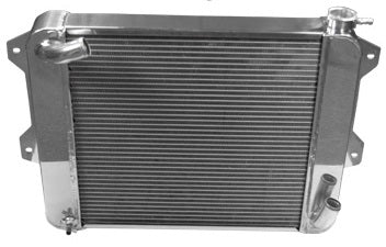Polished Aluminum Cross Flow Radiator 1970-78 (240Z / 260Z / 280Z) Manual Transmission Only