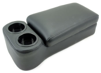 Carbon Fiber Look Console Arm Rest and Cup Holder 1970-83 (240Z / 260Z / 280ZX)