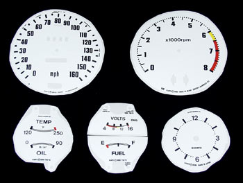 White Gauge Face Kit 1970-78 (240Z / 260Z / 280Z)