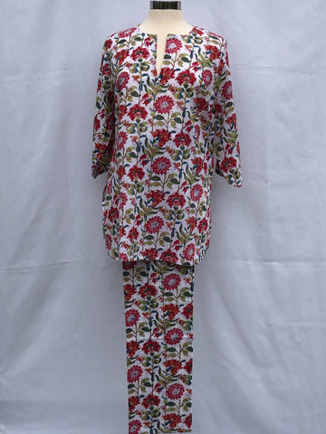 Anokhi Pajamas in Bird and Bee Floral
