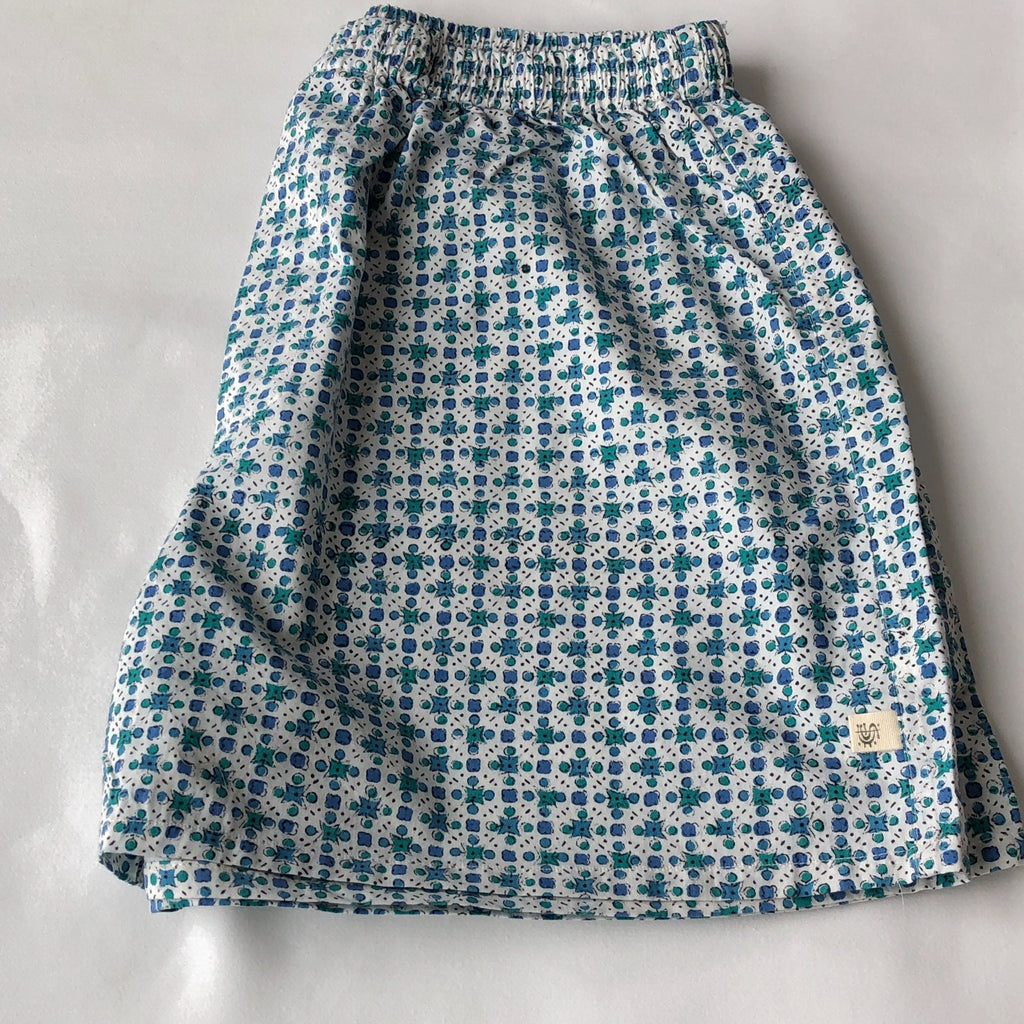 Anokhi Men's Boxer Shorts in Blue Circles and Dots