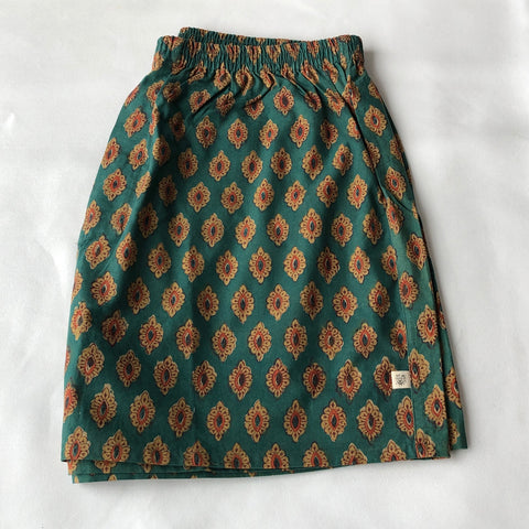 Anokhi Men's Boxer Shorts in Green Medallion
