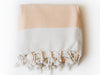 "Double-Thread ""Baklava"" Bath Towel / Throw in Salmon"