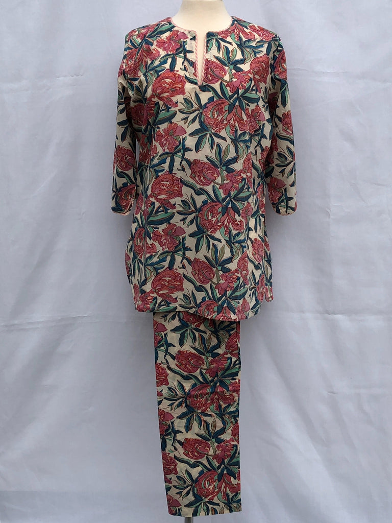Anokhi Pajamas in Large Stylized  Floral