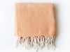 "Flat Woven ""Abant"" Bath Towel / Throw in Tangerine"
