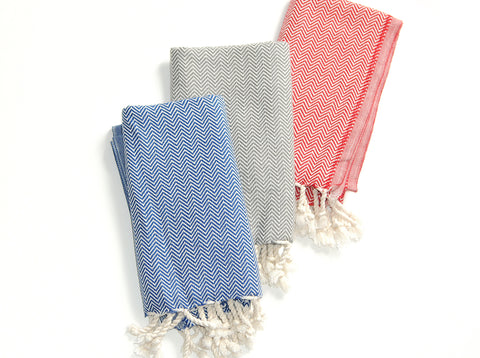 "Flat Woven ""Exclusive Yali Design"" Hand Towel / Peskir"