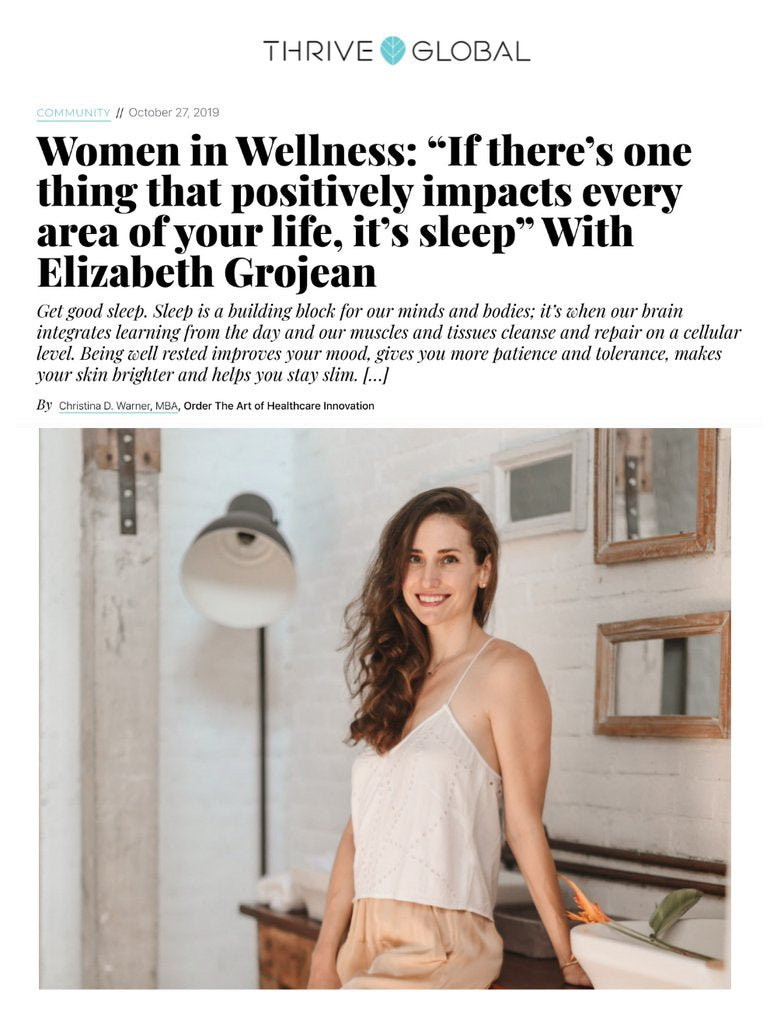 Thrive Global Women in Wellness Elizabeth Grojean