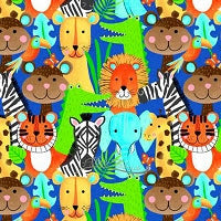 Load image into Gallery viewer, Children's Jungle Print Flannelette Face Mask