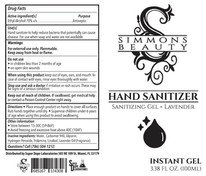 Simmons Beauty Hand Sanitizer - 3 Pack