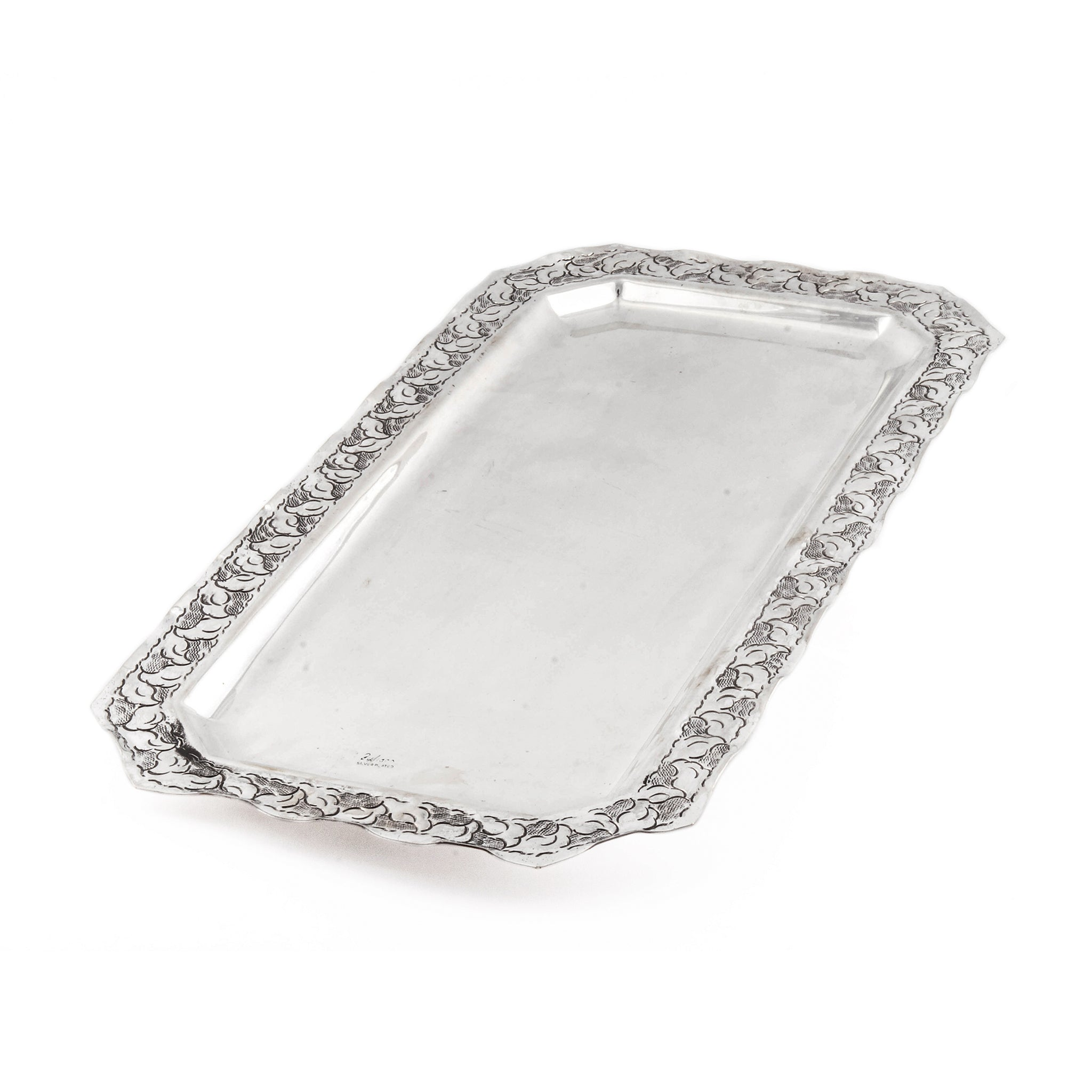 French Antique Silver Plated Tray Khan Al Maghraby