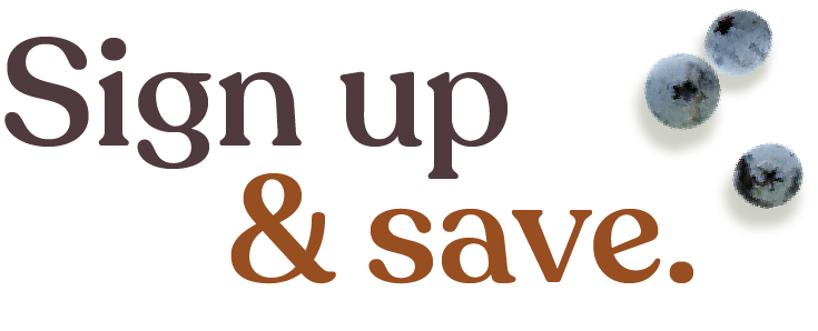 Sign up and save!