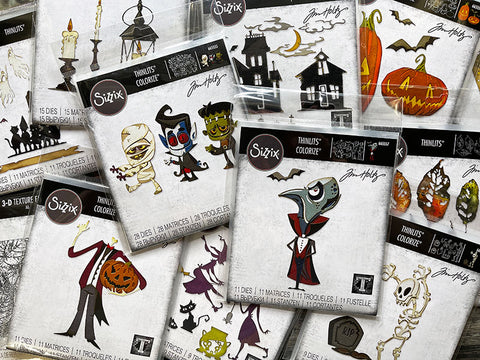 Photo by Tim Holtz for Sizzix chapter halloween 2021 release arriving instore August.