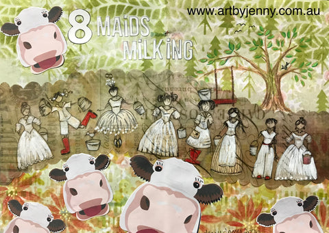eight maids a milking journal page