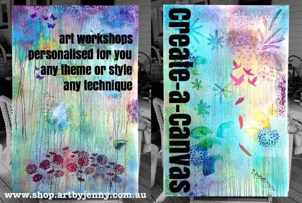 Create a Canvas and Other Art Workshops available at Art by Jenny, South Australia
