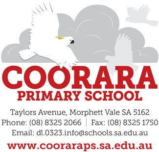logo and signage design for Coorara Primary School in Morphett Vale, South Australia
