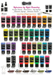 Ranger Inks Dyan Reaveley's Dylusions Colourful Range of Paint Pens, Acrylic Paints and Ink Sprays in both Shimmer and Matte
