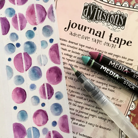 making washi tape using book tape