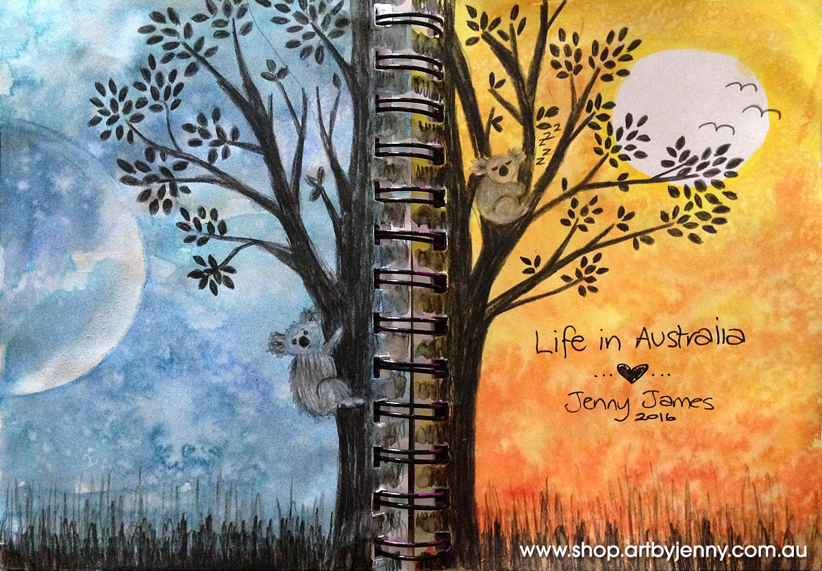 the finish art journal watercolour painting