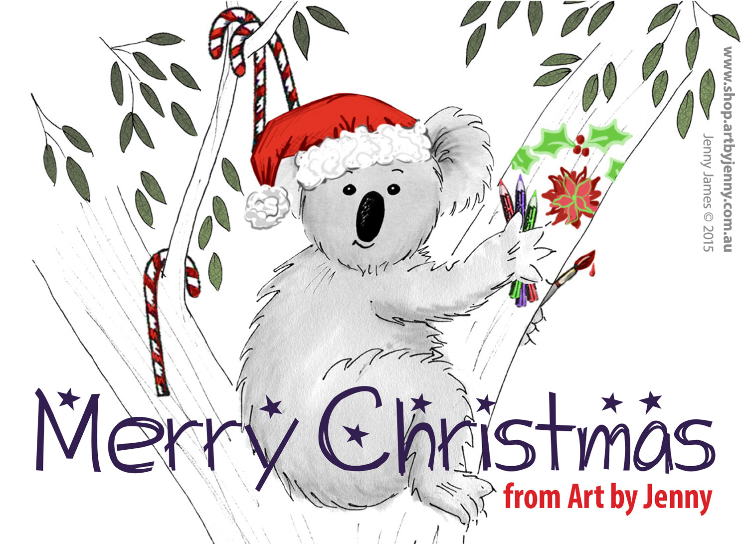 Merry Christmas and a Happy Creative New Year from all of us at Art by Jenny