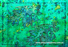 Magical Underwater Art by Jenny James using Distress Inks and Texture Paste