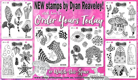 buy stamps from Dylusions by Dyan Reaveley in Australia at Art by Jenny