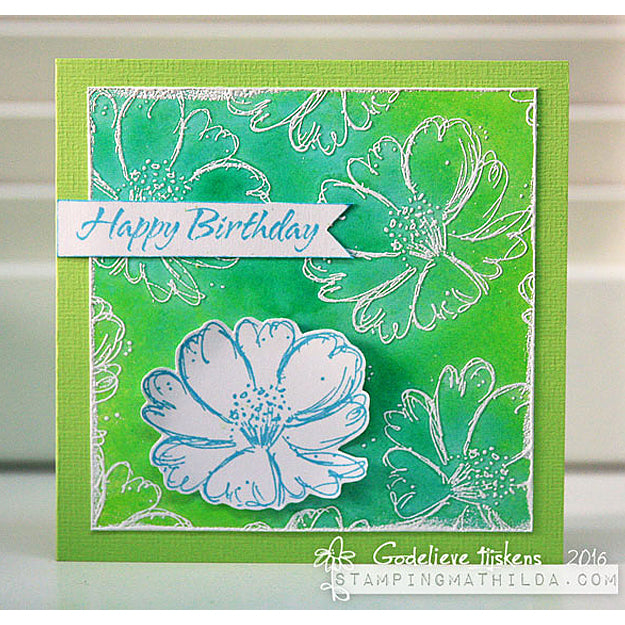Gorgeous handmade greeting card by Godelieve for Darkroom Door