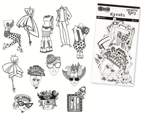 Dylusions Die-Cut Dy Cuts, people paper dolls