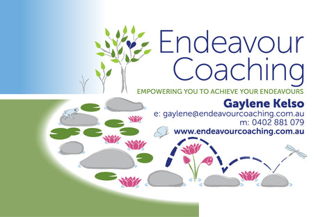 business card and logo design for Endeavour Coaching