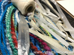 giving life to old ribbons, yarns, wools and plastic packaging twine