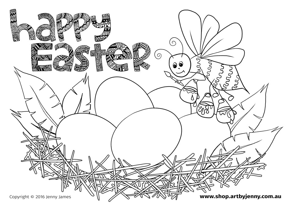 colouring fun for everything this Easter weekend